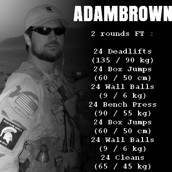 wod hero crossfit adambrown