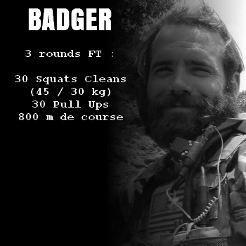 wod hero crossfit badger