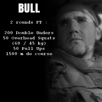 wod hero crossfit bull